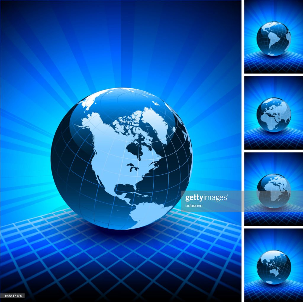 Blue world map globe collection on abstract background vector art blue world map globe collection on abstract background vector art gumiabroncs Gallery