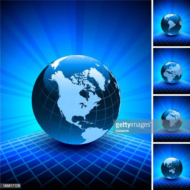 blue world map globe collection on abstract background - ghana stock illustrations, clip art, cartoons, & icons