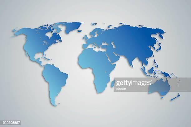Blaue World Karte