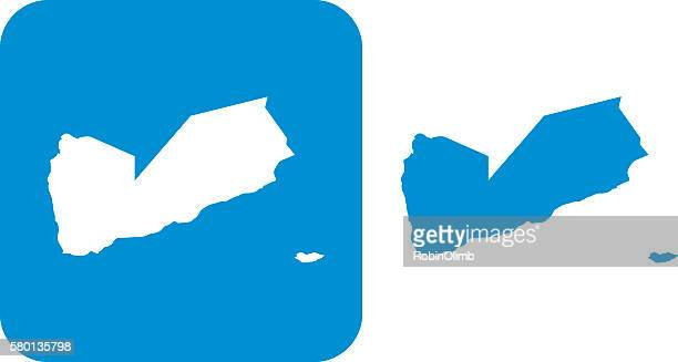 blue yemen icon - yemen stock illustrations, clip art, cartoons, & icons
