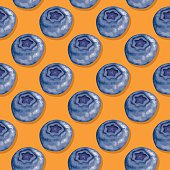Blueberries (Seamless pattern pop art style)