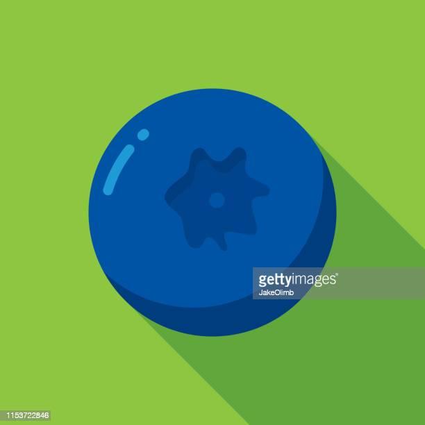 blueberry icon flat - cartoon desserts stock illustrations