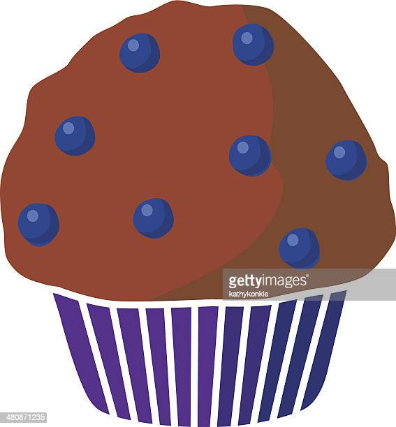 blueberry muffin - bran stock illustrations, clip art, cartoons, & icons