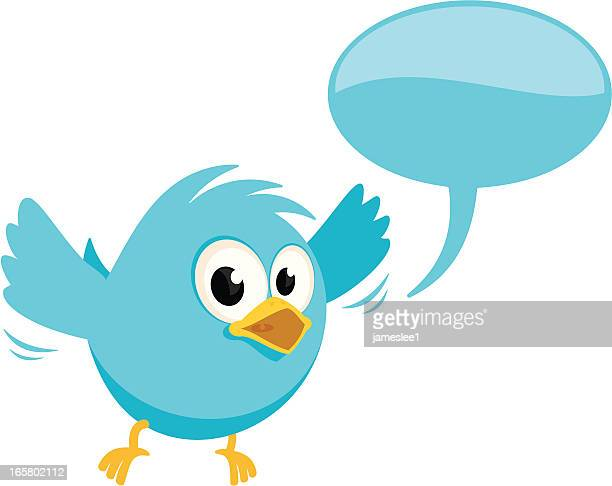 Bluebird With Speech Bubble