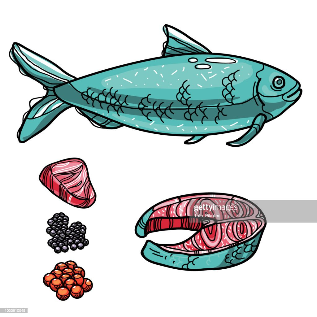 Bluefish with products