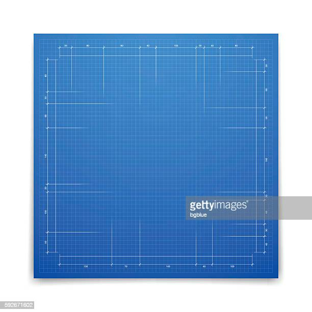 blueprint background - graph paper - grid pattern stock illustrations