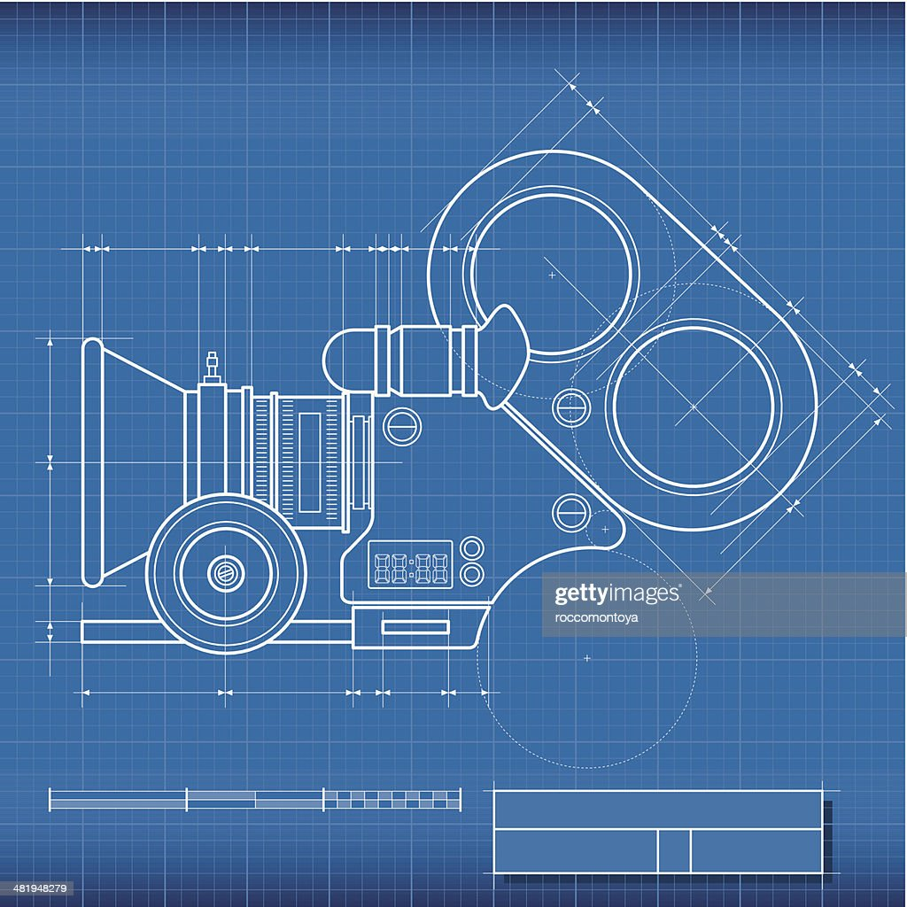 Blueprint camera film vector art getty images blueprint camera film vector art malvernweather Choice Image