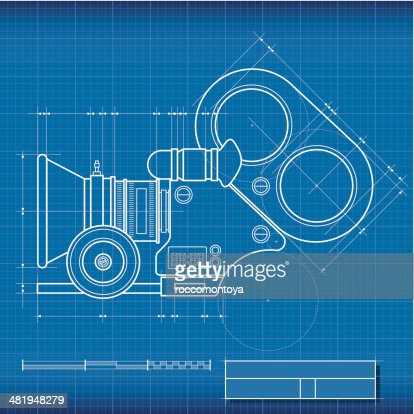 Blueprint camera film vector art getty images malvernweather Image collections