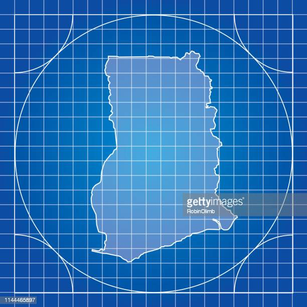 blueprint ghana map - accra stock illustrations, clip art, cartoons, & icons