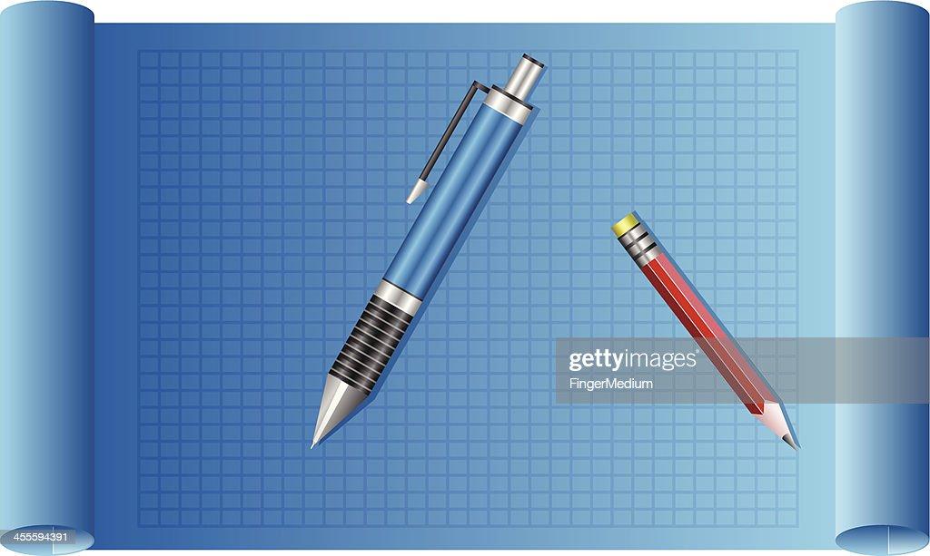 Blueprint graph paper vector art getty images blueprint graph paper vector art malvernweather Images