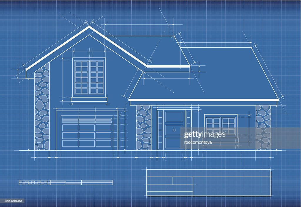 Blueprint, House : Vector Art