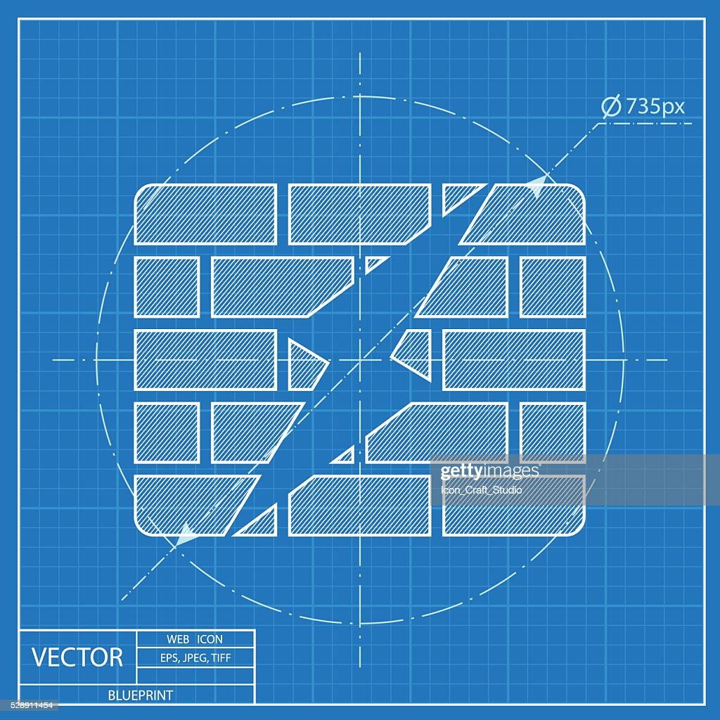 blueprint icon of firewall
