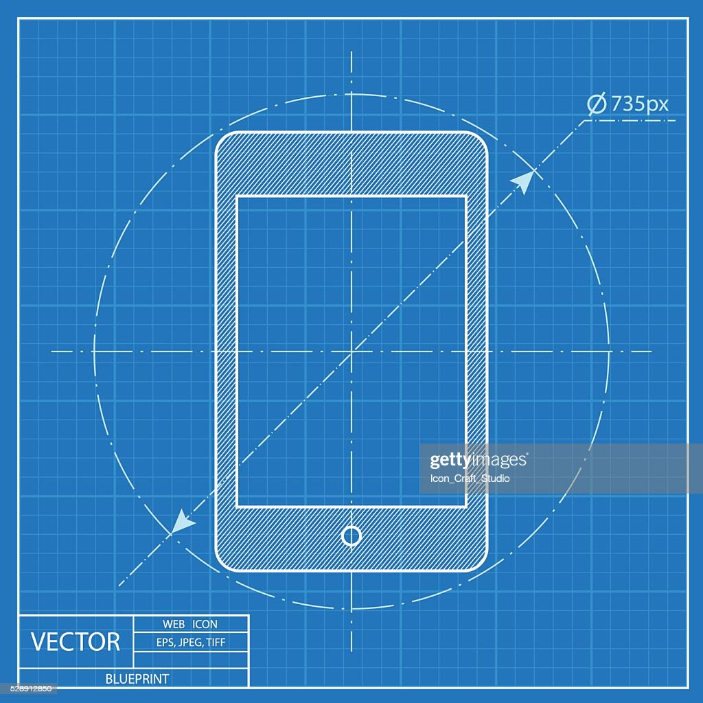 blueprint icon of tablet
