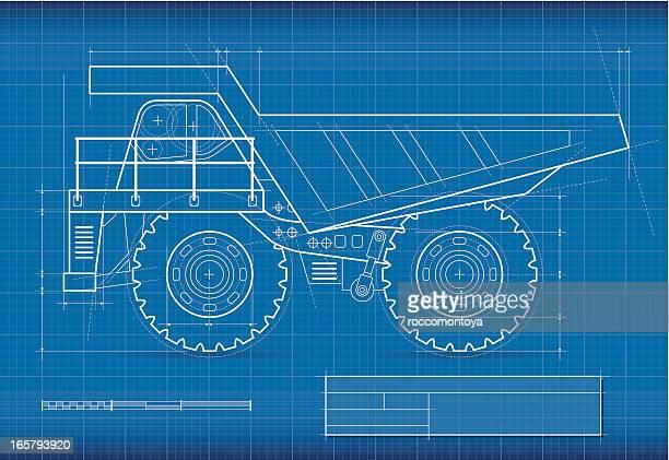 製図、鉱業トラック - 鉱業点のイラスト素材/クリップアート素材/マンガ素材/アイコン素材