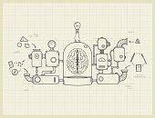 Blueprint of an idea machine project
