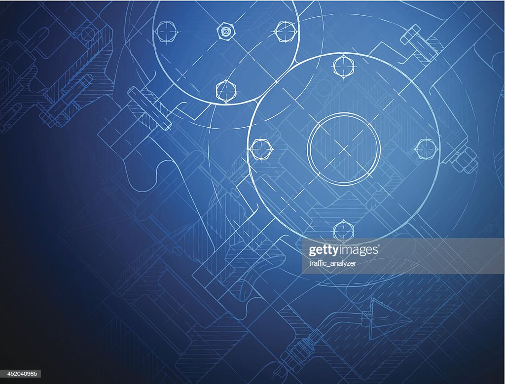 Blueprint of the reducing gear : stock illustration