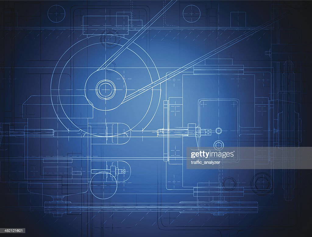 Blueprint of the reducing gear