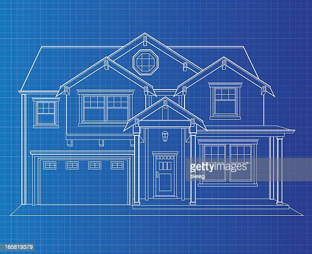 Blueprint paper vector art and graphics getty images blueprint single dwelling malvernweather Gallery
