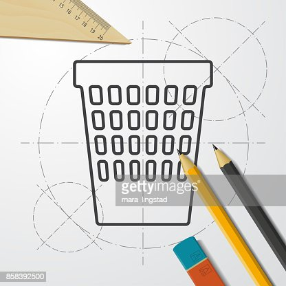 Blueprint style icon vector art getty images malvernweather Images