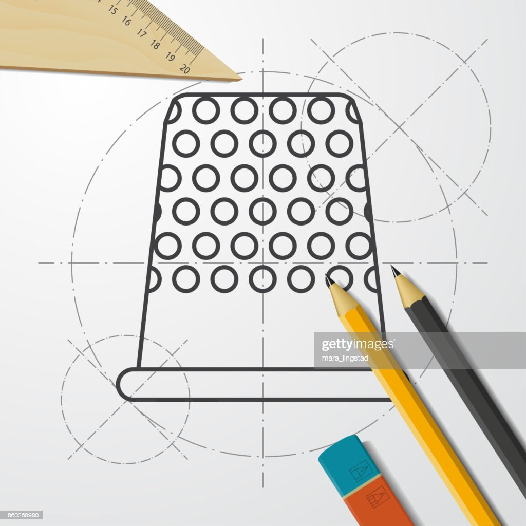 Blueprint style icon vector art getty images blueprint style icon vector art malvernweather Gallery