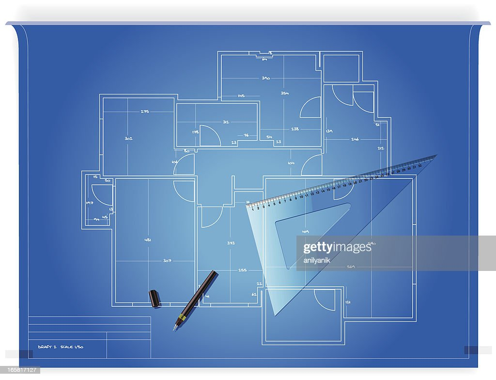 blueprint : Stock Illustration