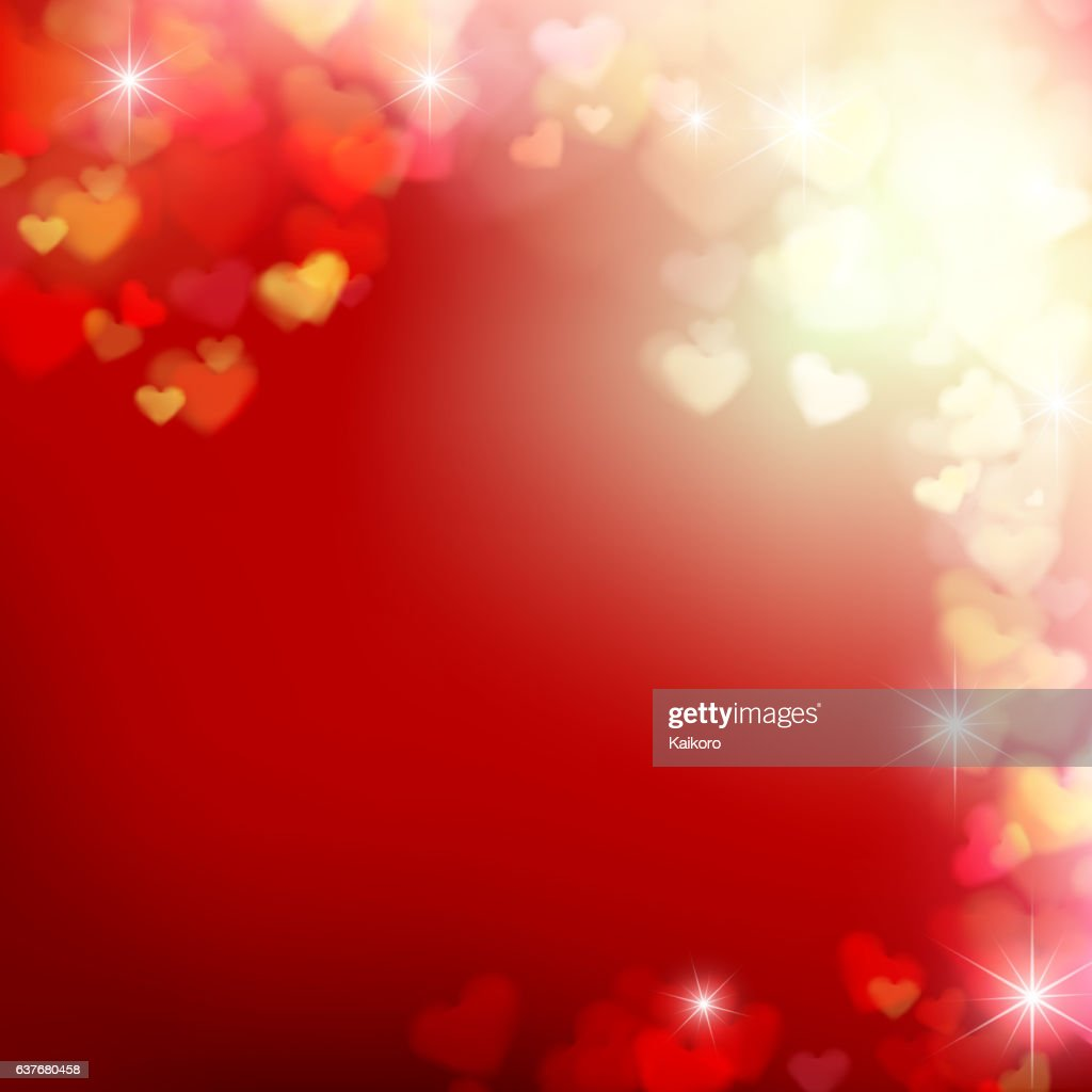 006 Blur heart on red abstract background vector illustration EP