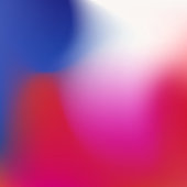 Blurred gradient with colorful waves for mobile device screen