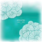 Blurred illustration with abstact patterns. Vector illustration. Sea theme