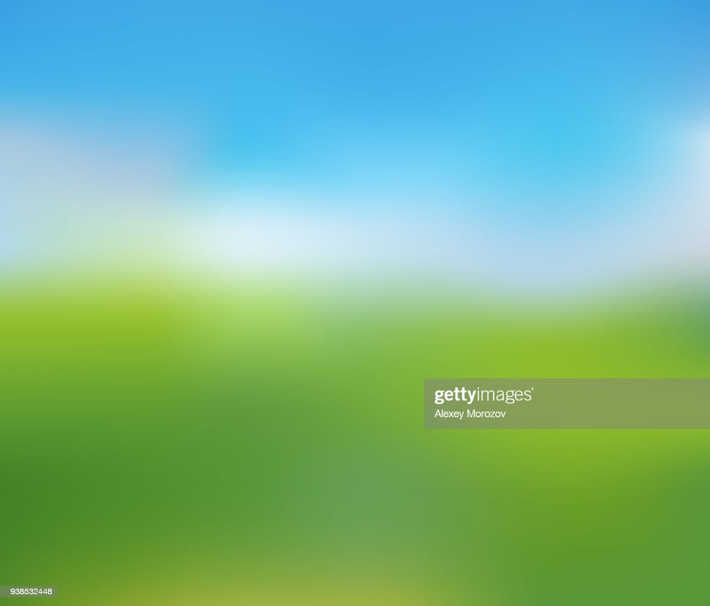 Blurred Nature Landscape of Sunny Summer Day