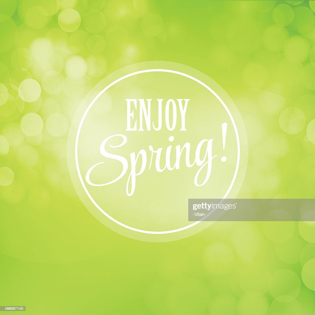 Blurred spring vector background