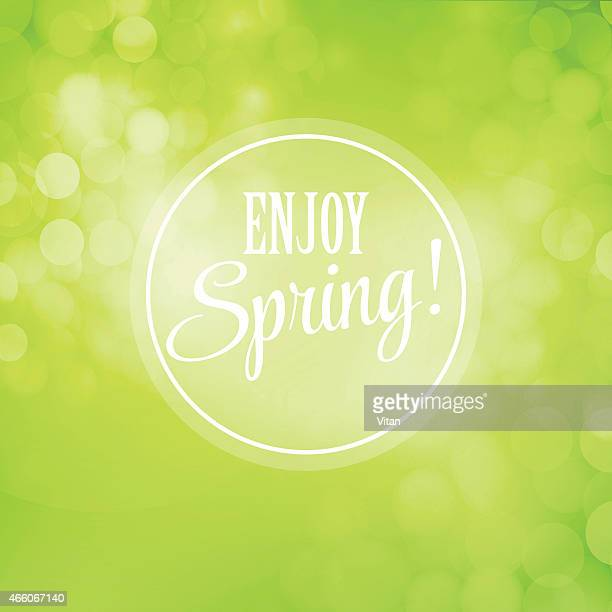 Blurred spring vector background