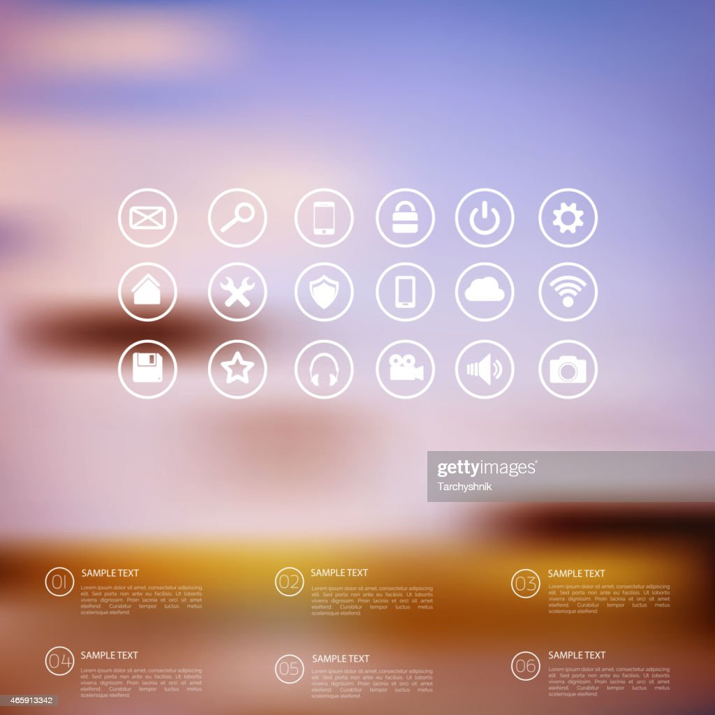 A blurry abstract web icon design