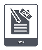 bmp icon vector on white background, bmp trendy filled icons from File type collection