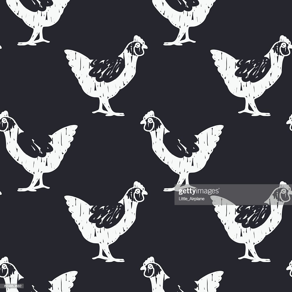 bnw chicken pattern