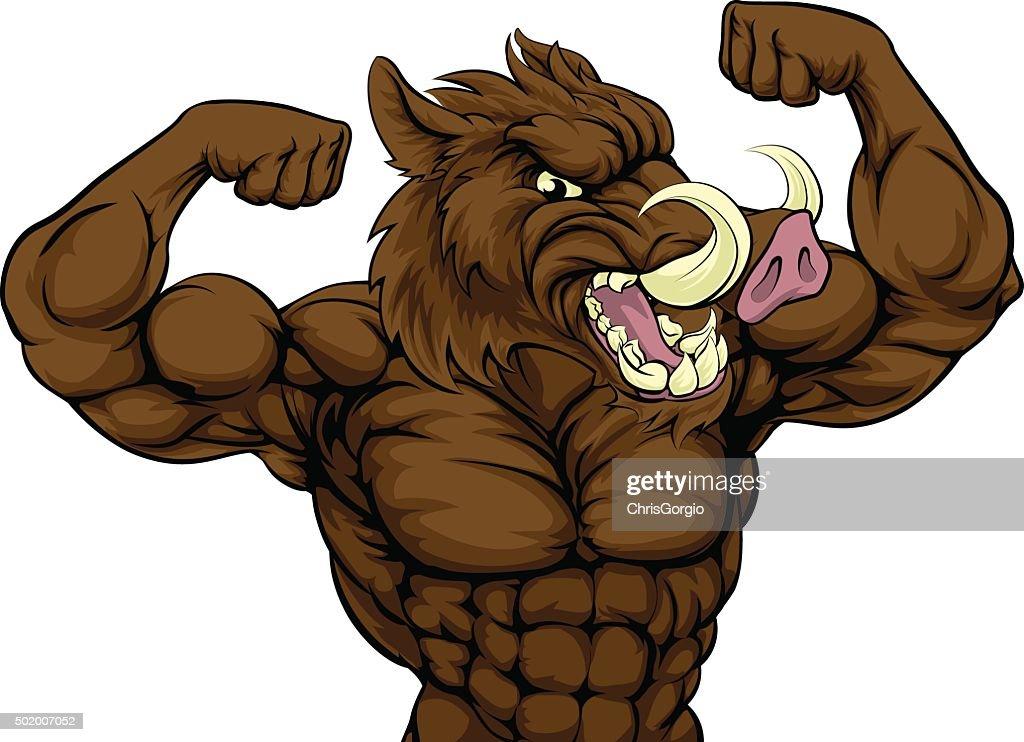 Boar Razorback Mascot