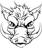 Boar sports mascot head