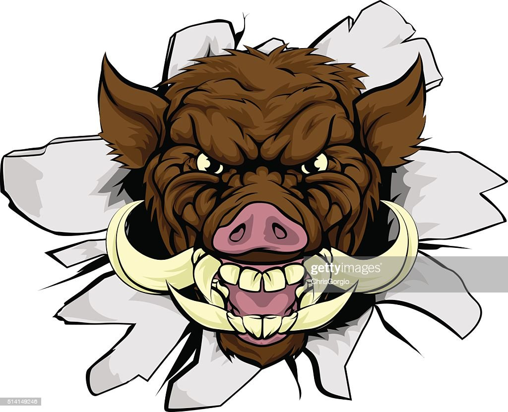 Boar Warthog Sports Mascot