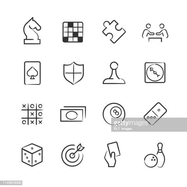 Board Game and Puzzle Icons—Sketchy Series