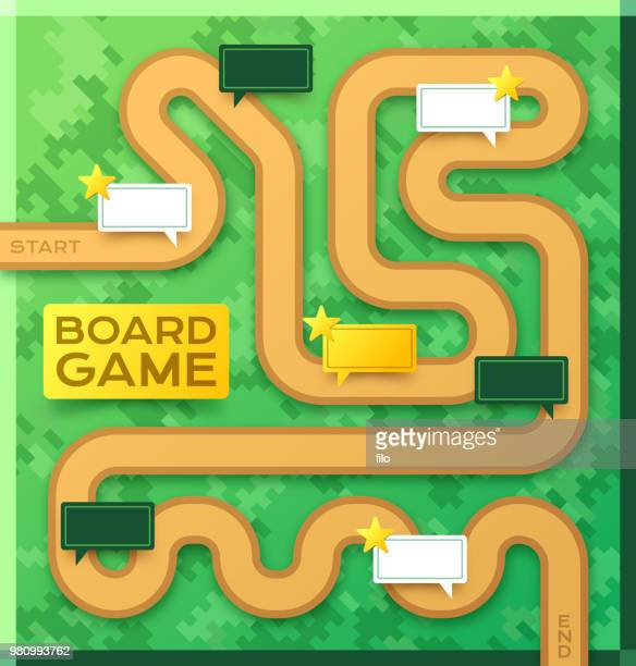 board game path template - board game stock illustrations