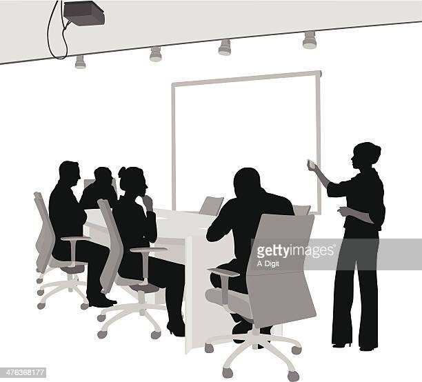 board of directors - presentation stock illustrations