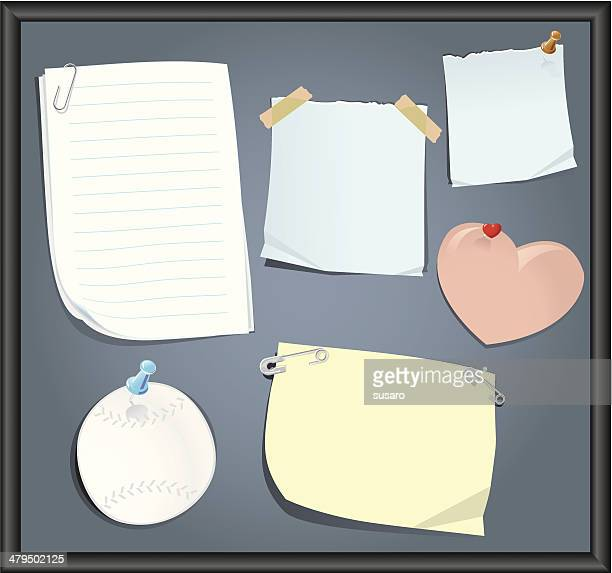 board of reminders - part of stock illustrations