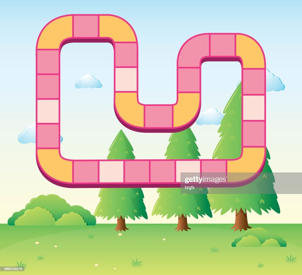 Boardgame Template With Park Background Vector Art Getty Images