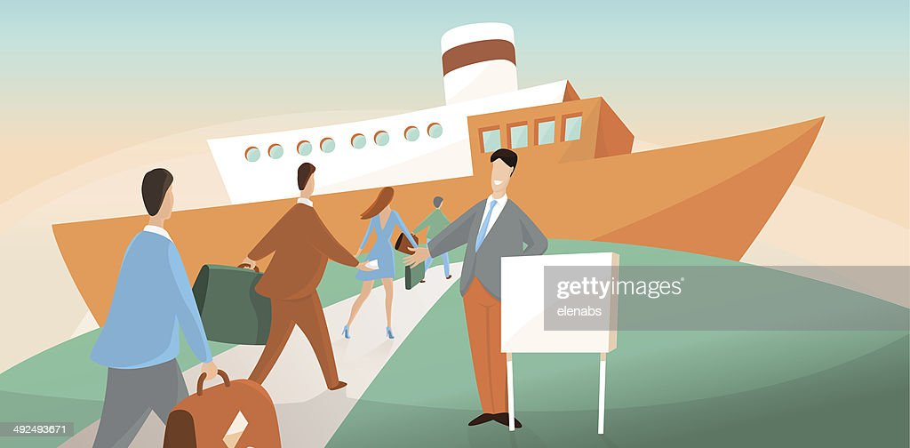 Boarding on ship
