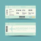 Boarding pass tickets green design. vector illustration.
