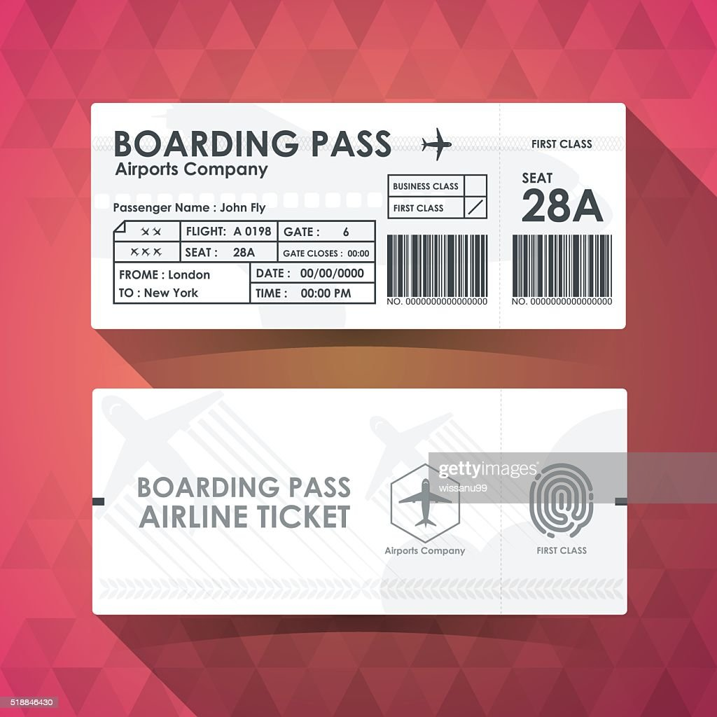 Boarding pass tickets white paper design. vector illustration.