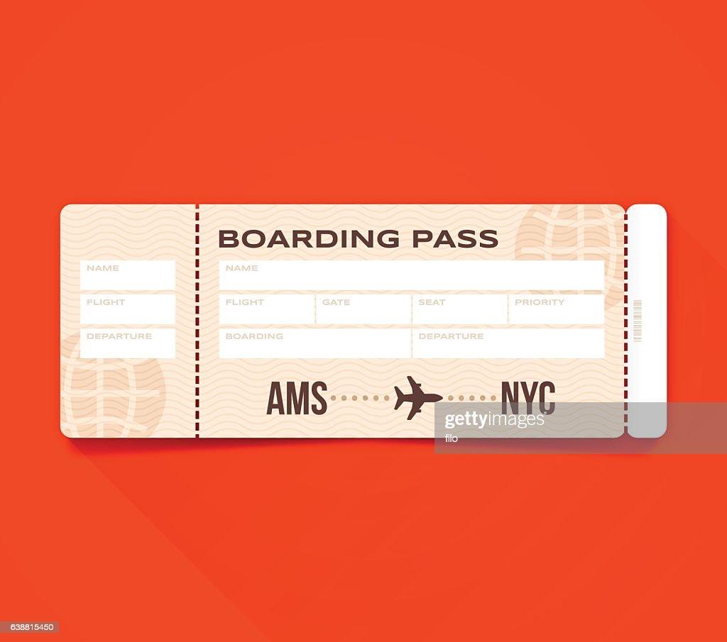 Bordkarte Pass : Stock-Illustration