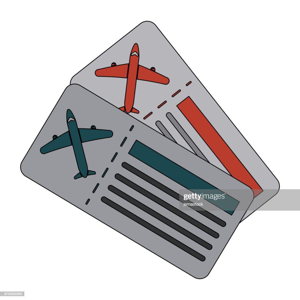 boarding passes icon image