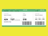 Boarding ticket. Airline ticket.