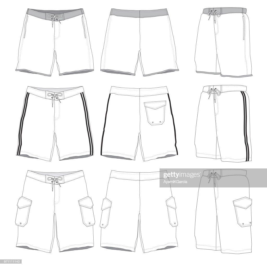 Boardshorts template