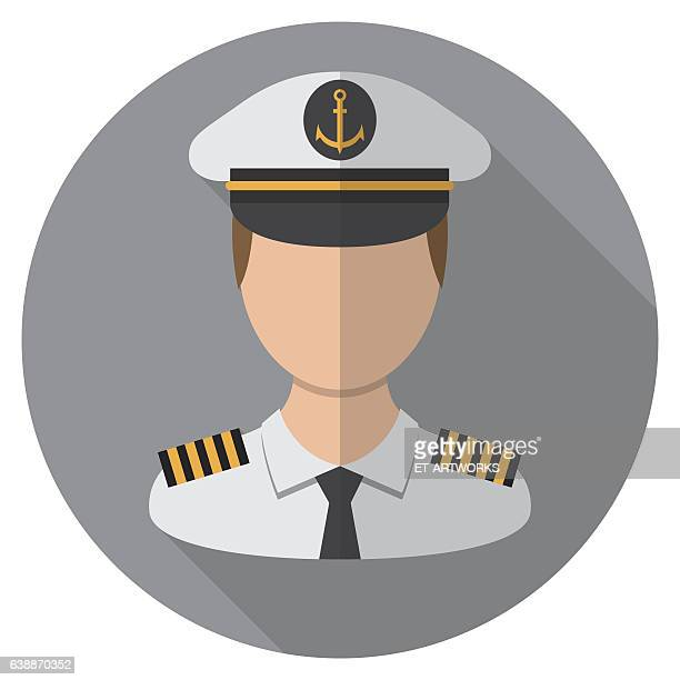 boat captains icon - military personnel stock illustrations, clip art, cartoons, & icons